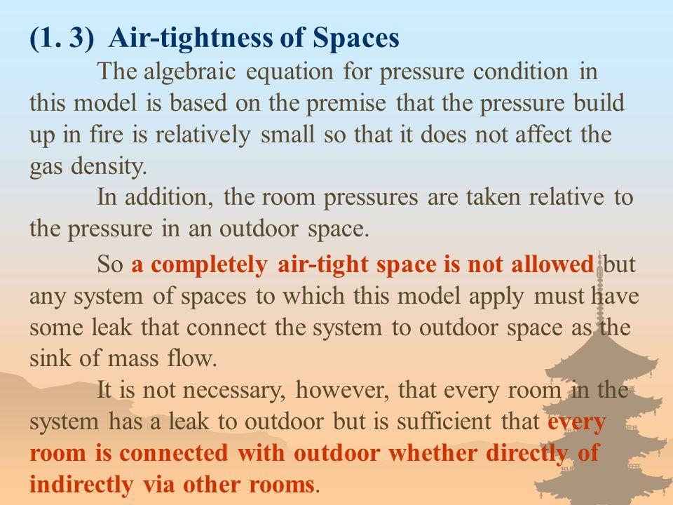 (1. 3) Air-tightness of Spaces