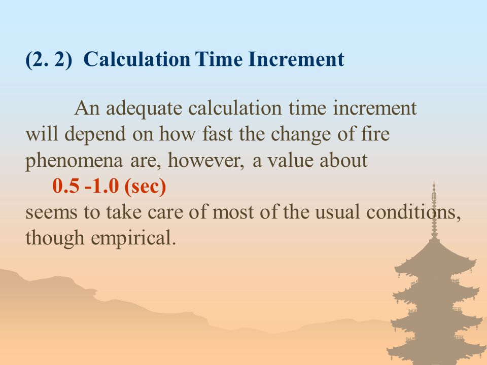(2. 2) Calculation Time Increment