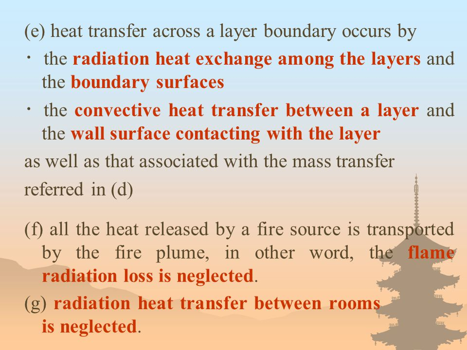 (e) heat transfer across a layer boundary occurs by