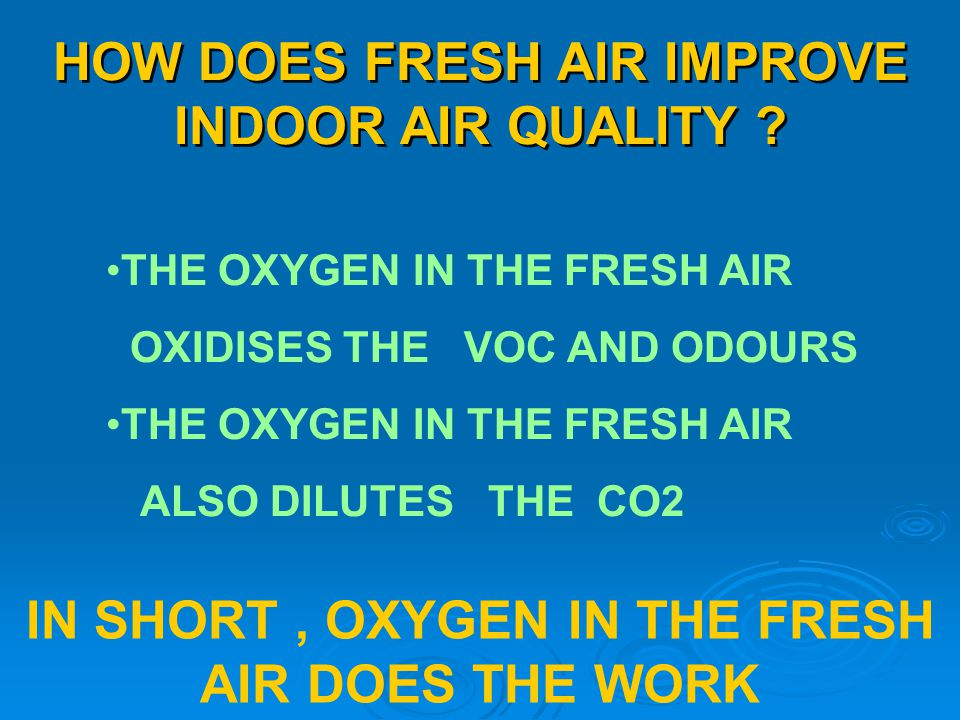 HOW DOES FRESH AIR IMPROVE INDOOR AIR QUALITY