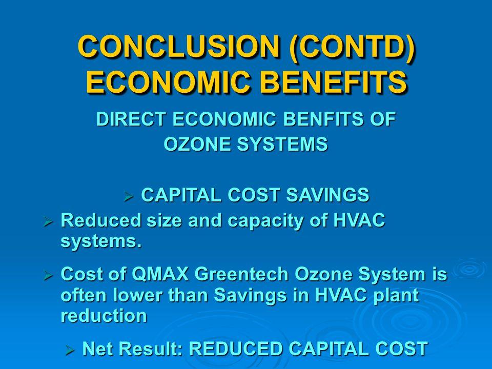 CONCLUSION (CONTD) ECONOMIC BENEFITS
