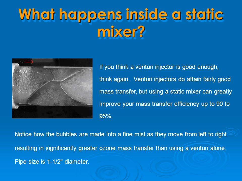 What happens inside a static mixer
