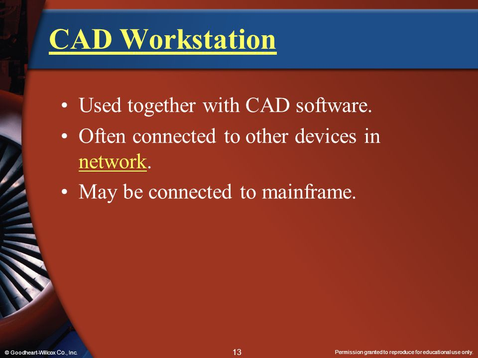 CAD Workstation Used together with CAD software.