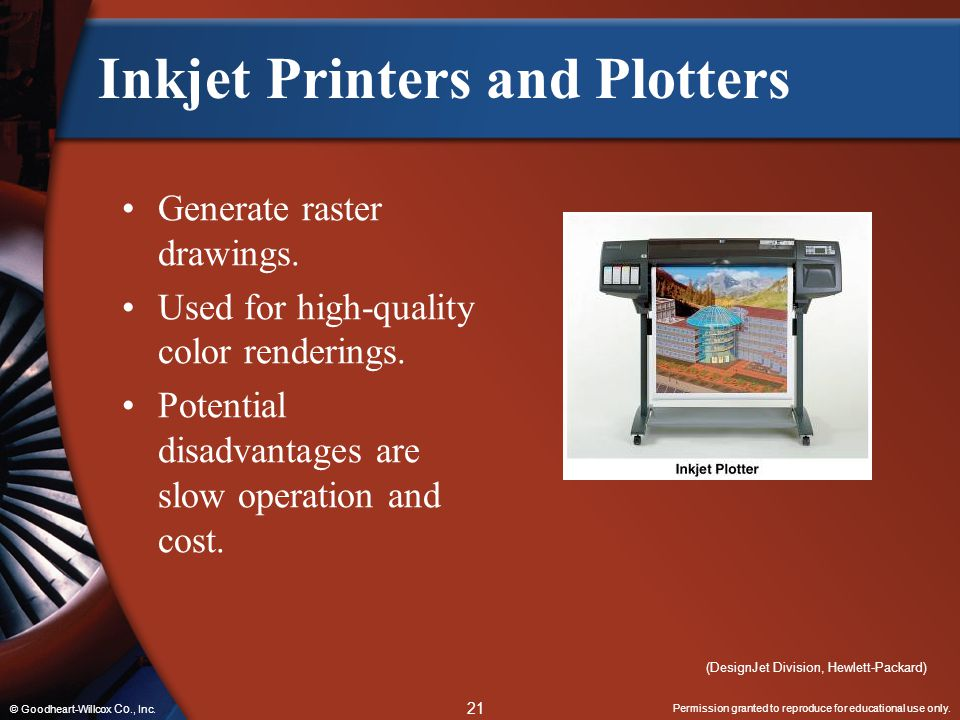 Inkjet Printers and Plotters