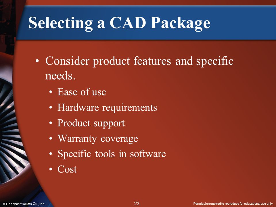Selecting a CAD Package