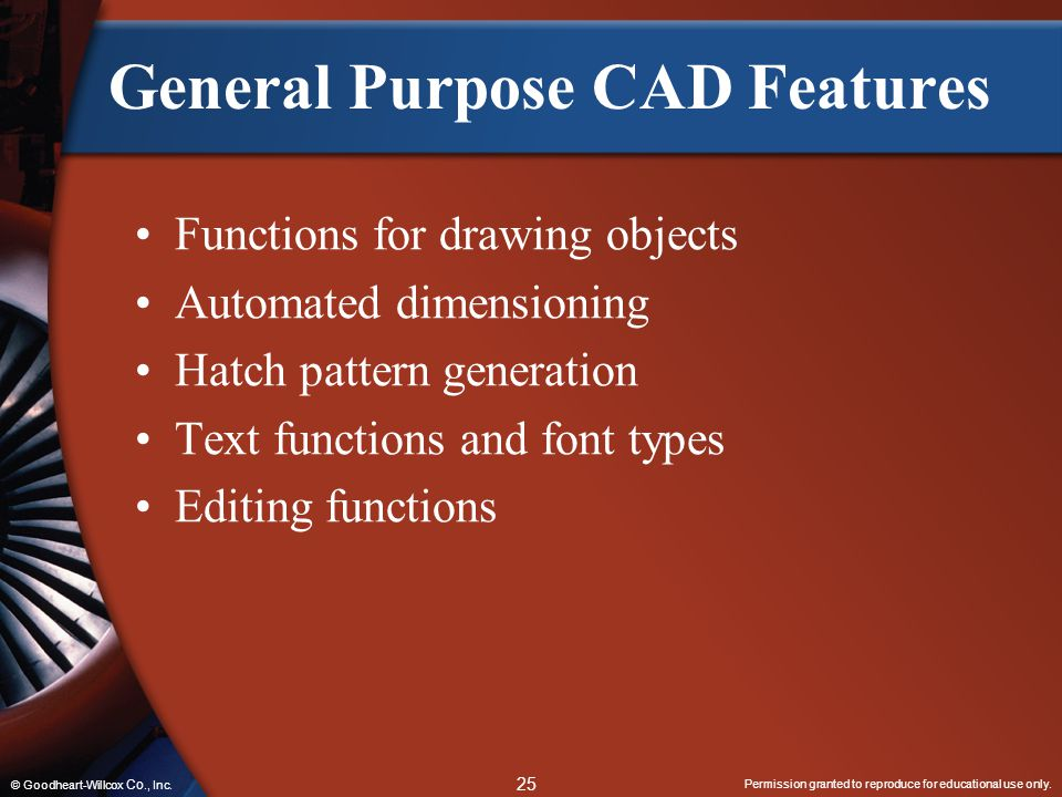 General Purpose CAD Features