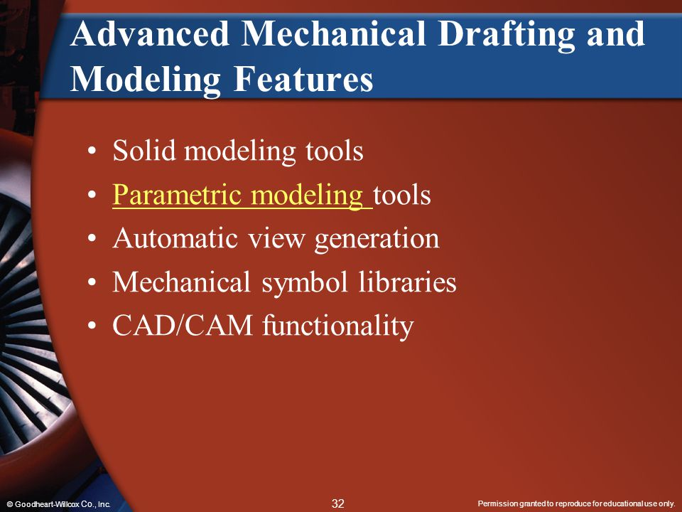 Advanced Mechanical Drafting and Modeling Features