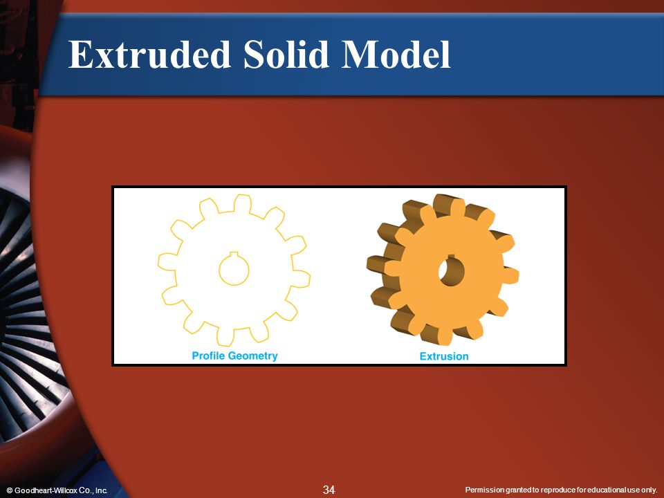Extruded Solid Model © Goodheart-Willcox Co., Inc.