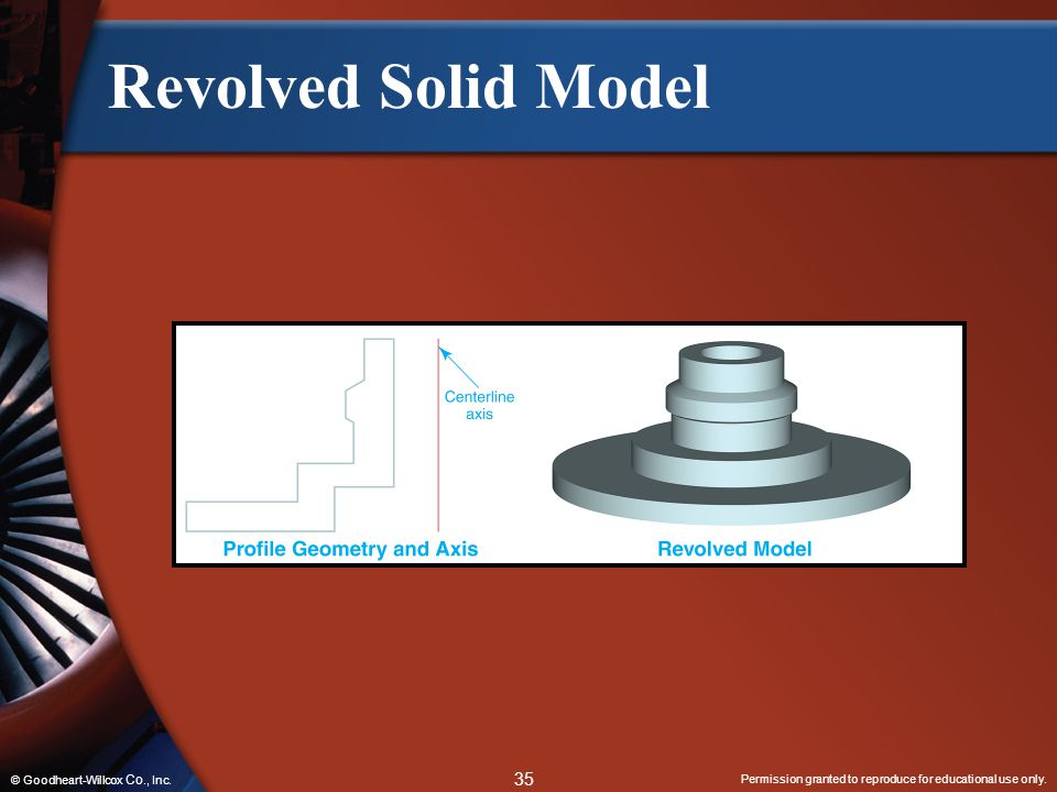 Revolved Solid Model © Goodheart-Willcox Co., Inc.