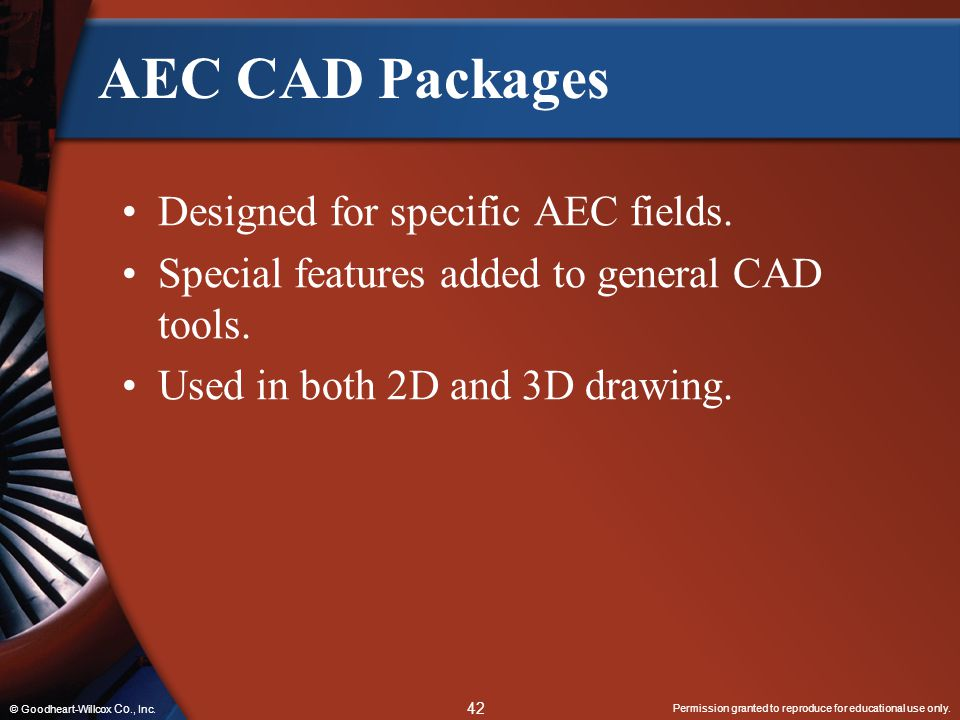 AEC CAD Packages Designed for specific AEC fields.