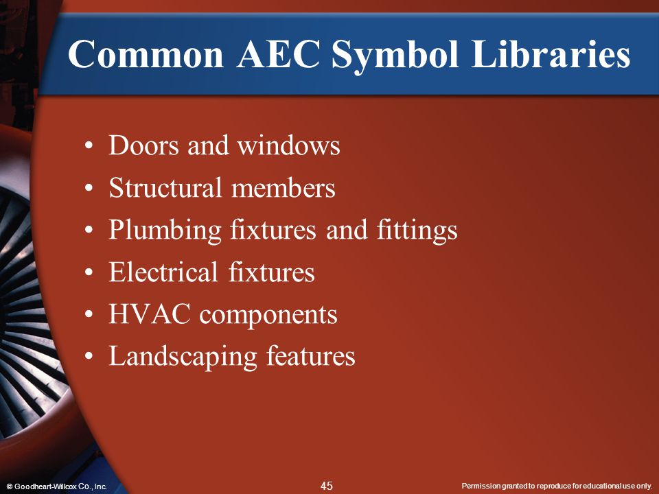 Common AEC Symbol Libraries