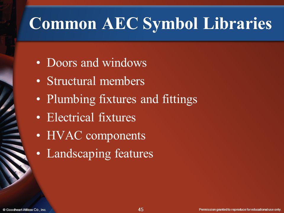 Common AEC Symbol Libraries