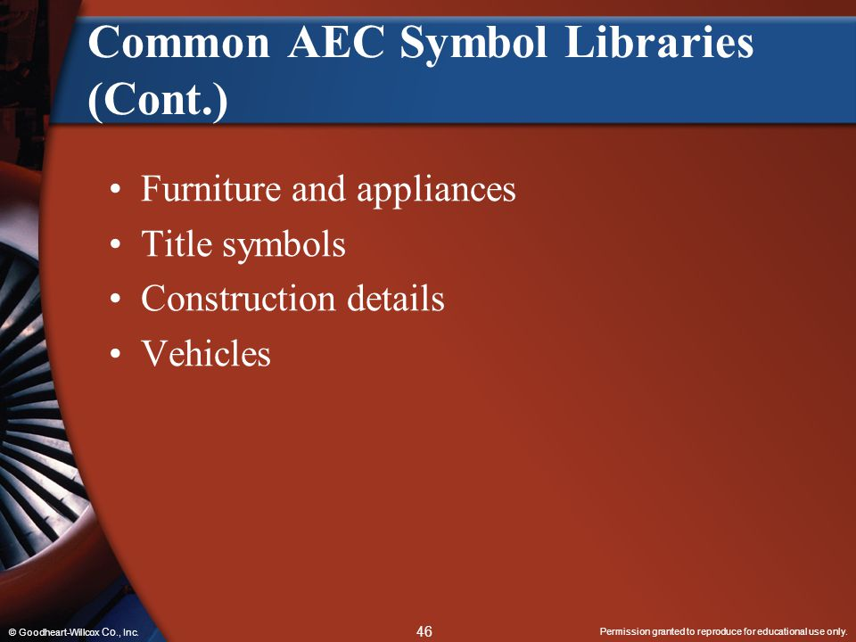 Common AEC Symbol Libraries (Cont.)