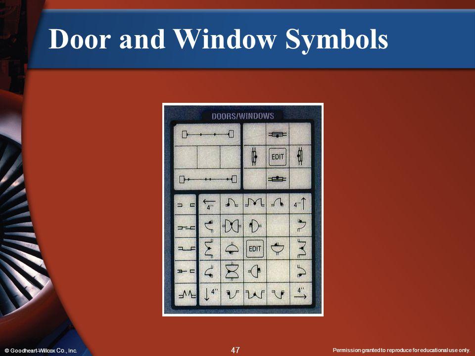 Door and Window Symbols