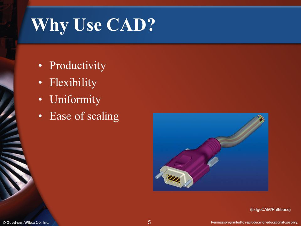 Why Use CAD Productivity Flexibility Uniformity Ease of scaling