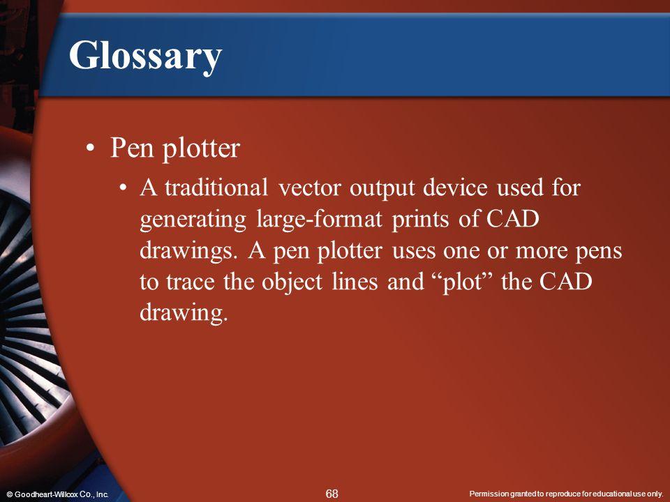 Glossary Pen plotter.