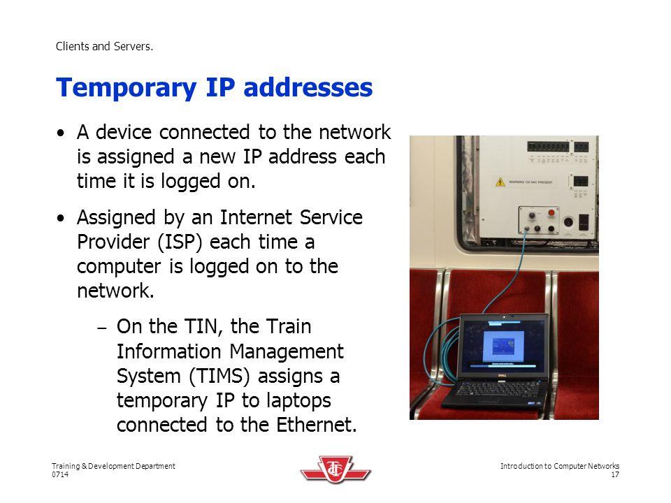 Temporary IP addresses
