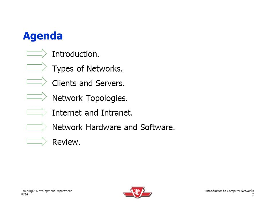 Agenda Introduction. Types of Networks. Clients and Servers.