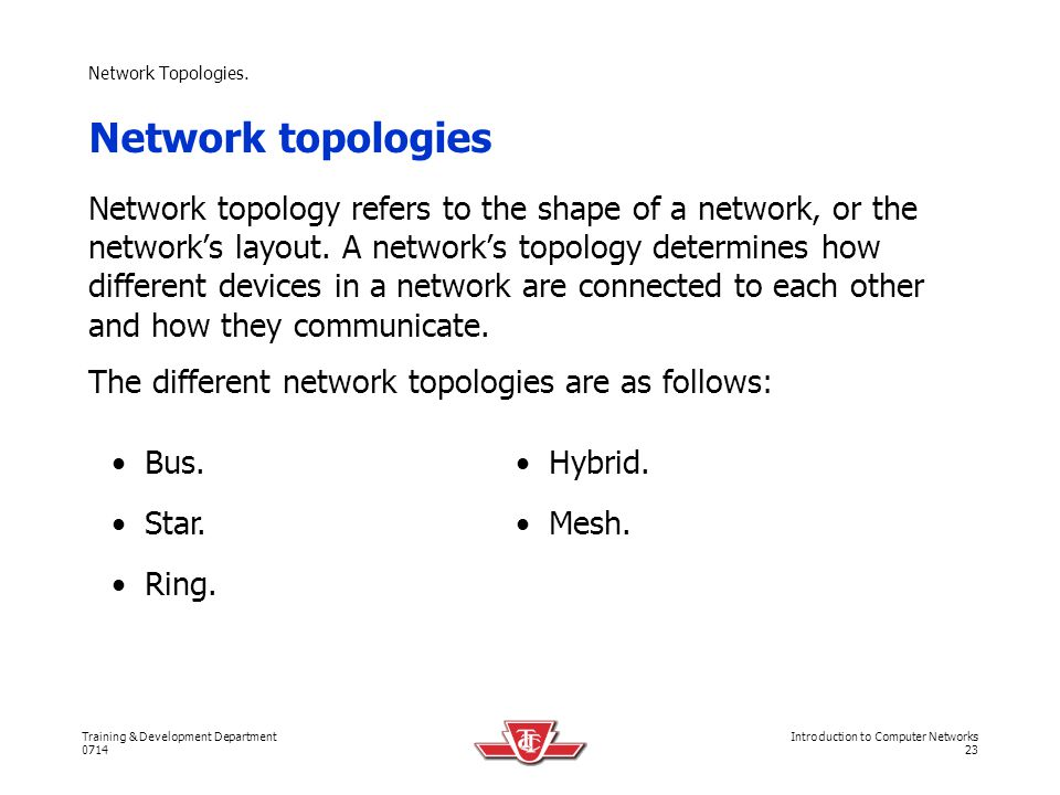 Network Topologies. Network topologies.
