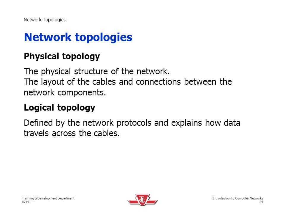 Network topologies Physical topology
