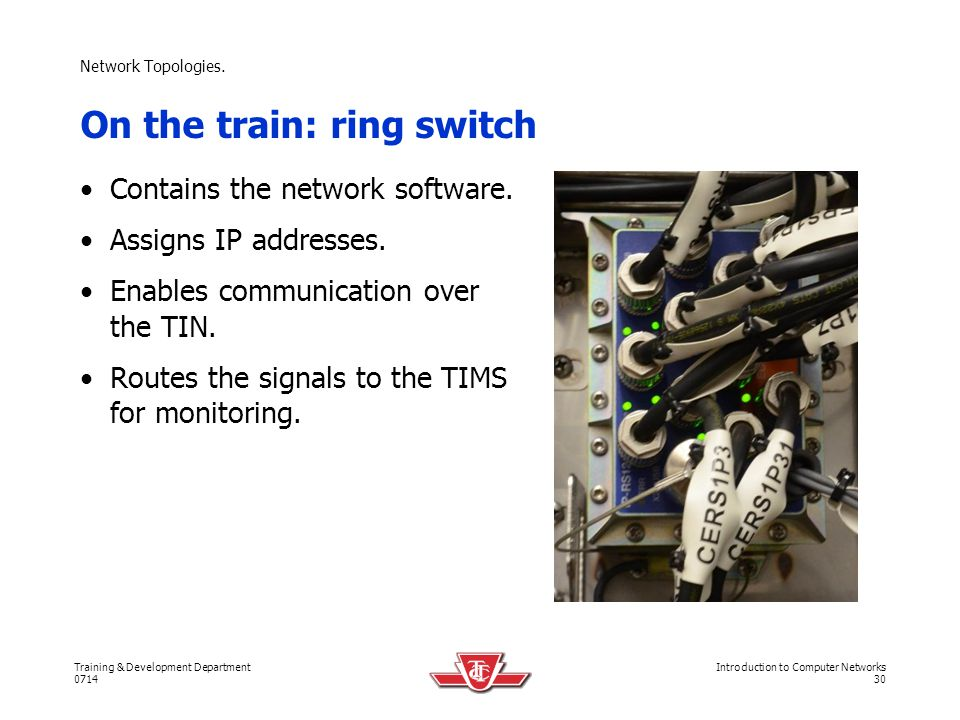 On the train: ring switch
