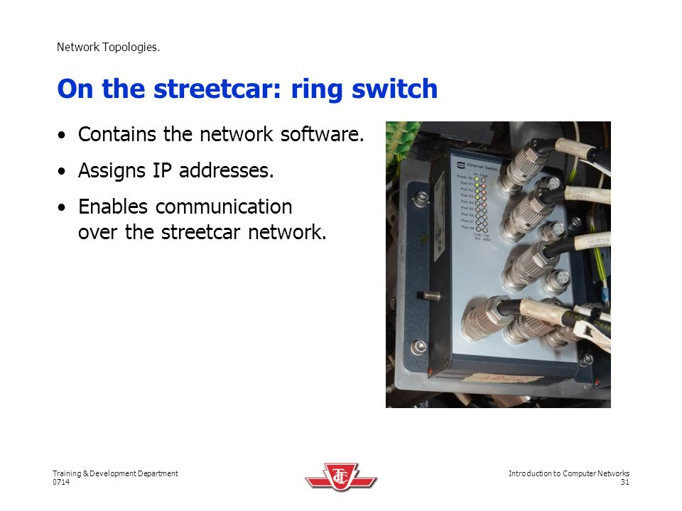 On the streetcar: ring switch