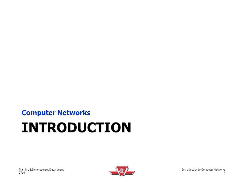 Computer Networks Introduction