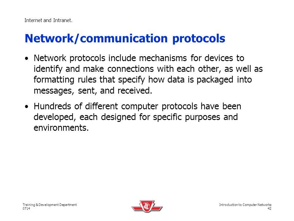 Network/communication protocols