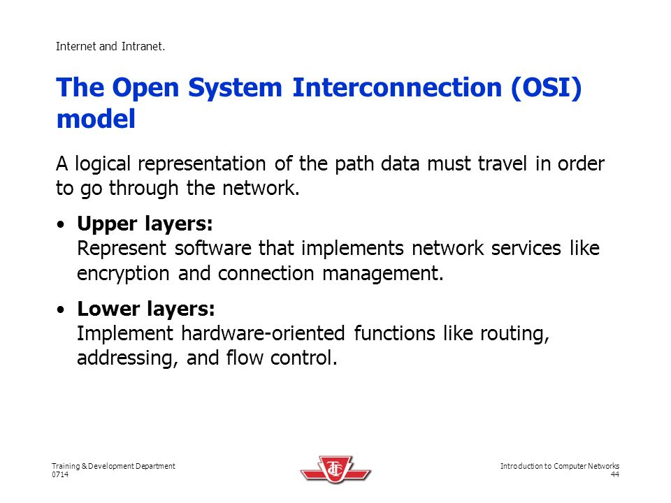 The Open System Interconnection (OSI) model