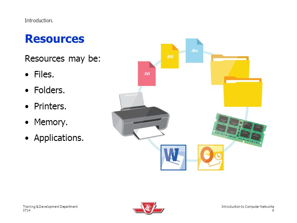 Resources Resources may be: Files. Folders. Printers. Memory.