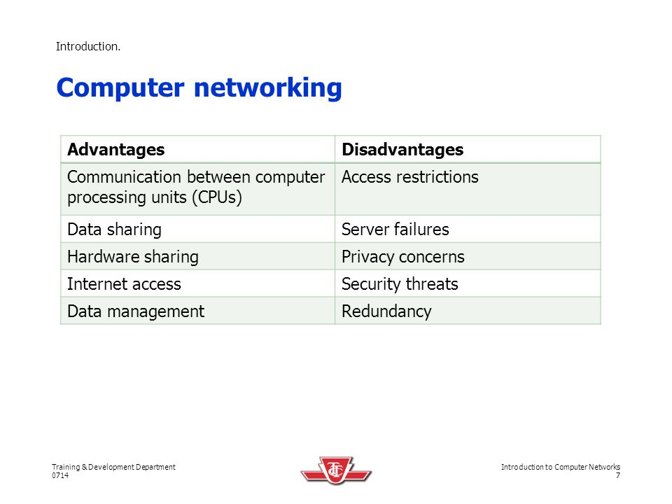 Computer networking Advantages Disadvantages