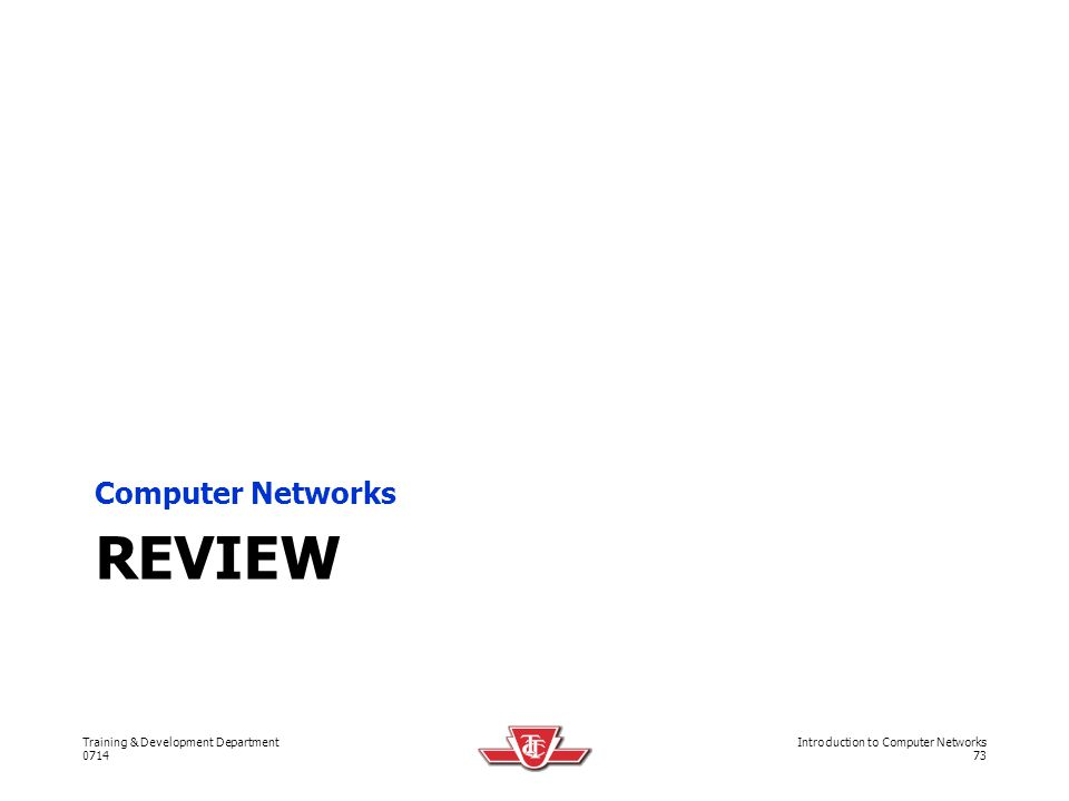 Computer Networks Review
