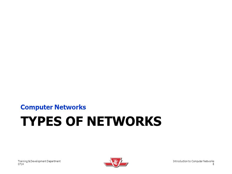 Computer Networks Types of networks