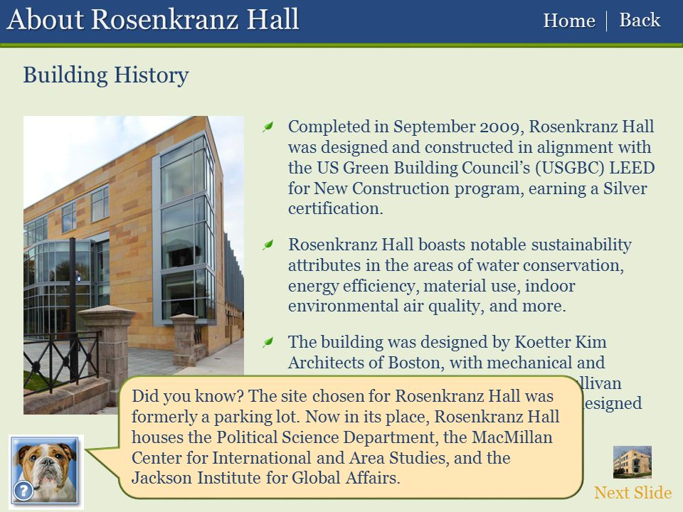 About Rosenkranz Hall Building History Back Home