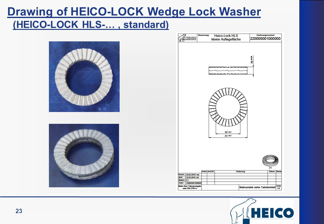 Drawing of HEICO-LOCK Wedge Lock Washer