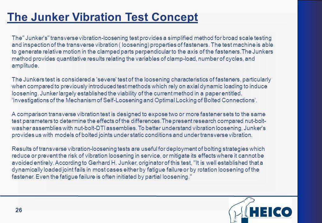 The Junker Vibration Test Concept