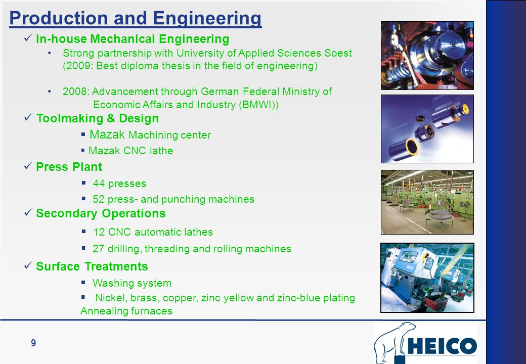 Production and Engineering