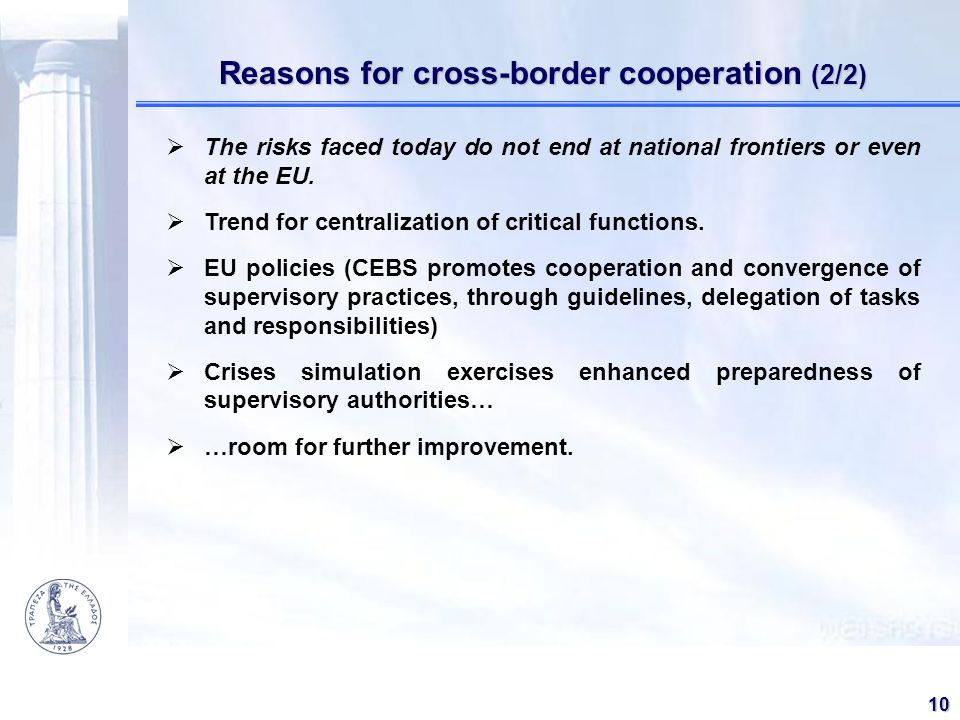 Reasons for cross-border cooperation (2/2)