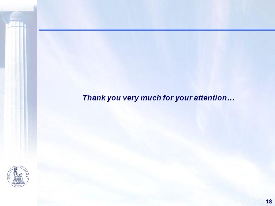 Thank you very much for your attention…