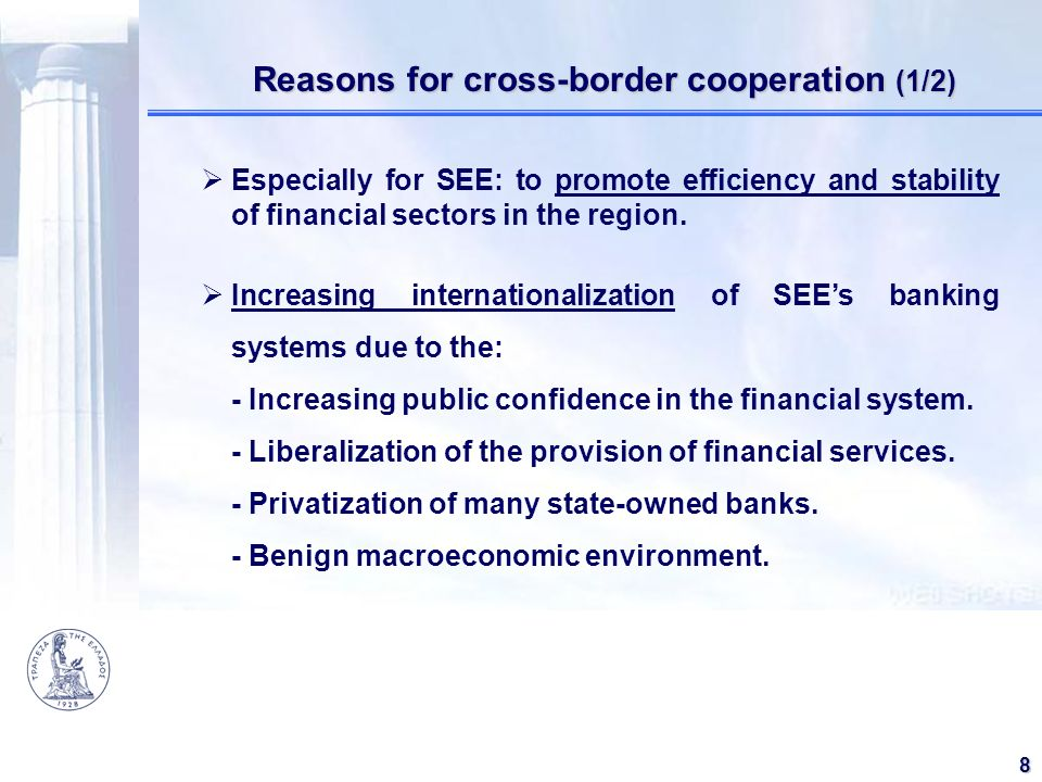 Reasons for cross-border cooperation (1/2)