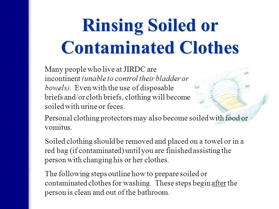 Rinsing Soiled or Contaminated Clothes