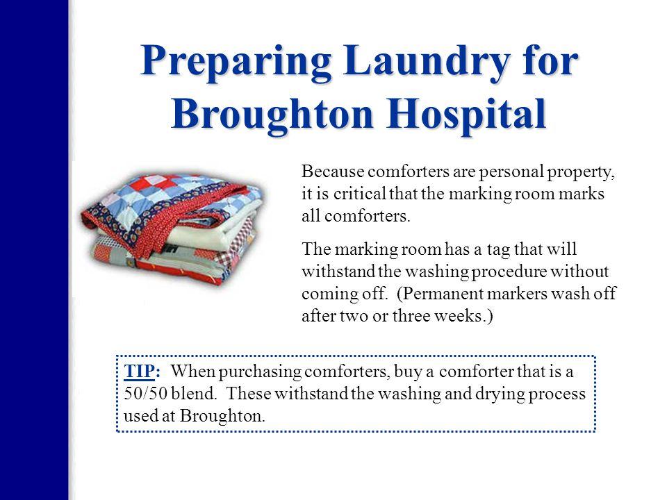 Preparing Laundry for Broughton Hospital