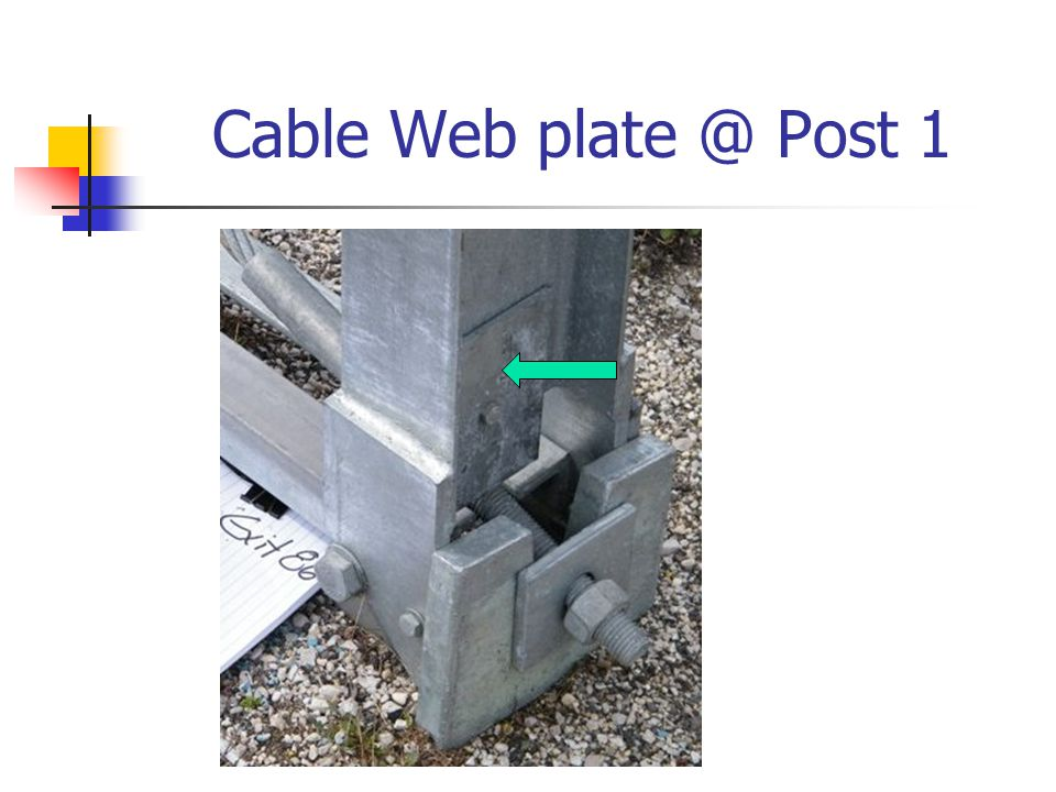 Cable Web plate @ Post 1