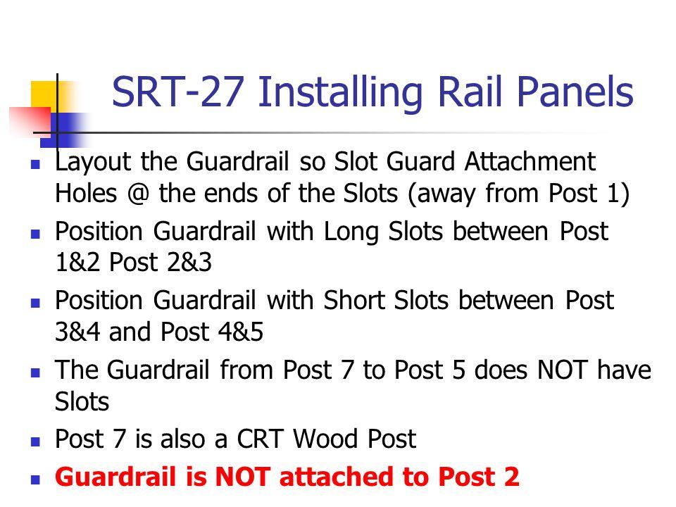 SRT-27 Installing Rail Panels