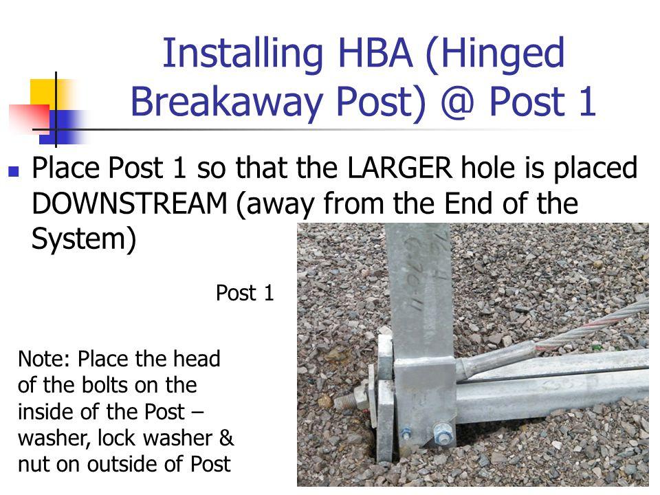Installing HBA (Hinged Breakaway Post) @ Post 1