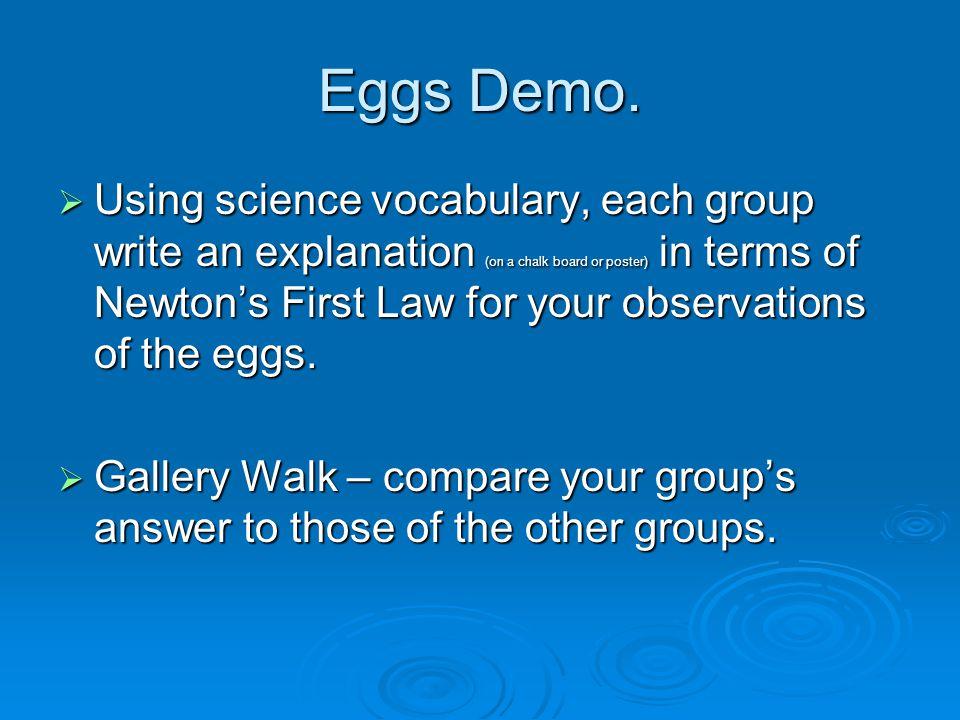 Eggs Demo.