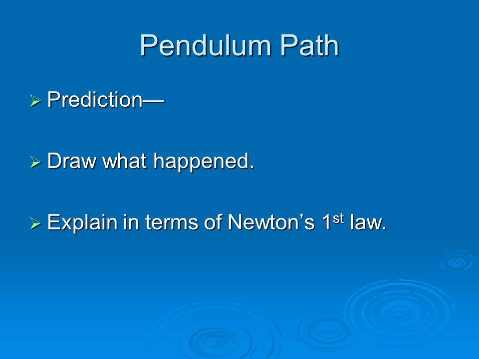 Pendulum Path Prediction— Draw what happened.