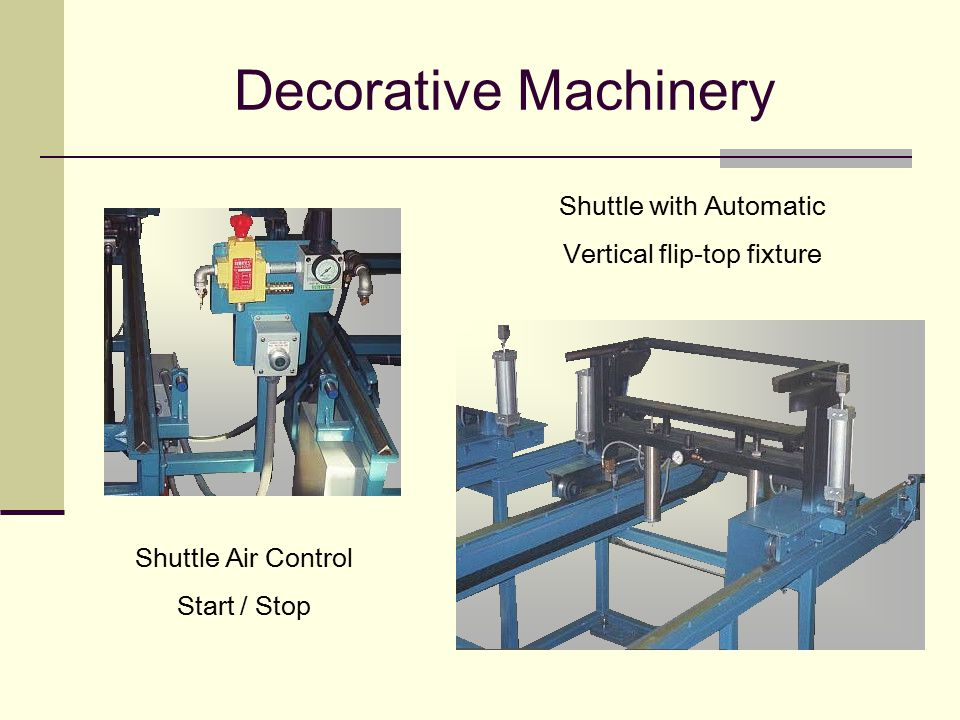 Decorative Machinery Shuttle with Automatic Vertical flip-top fixture