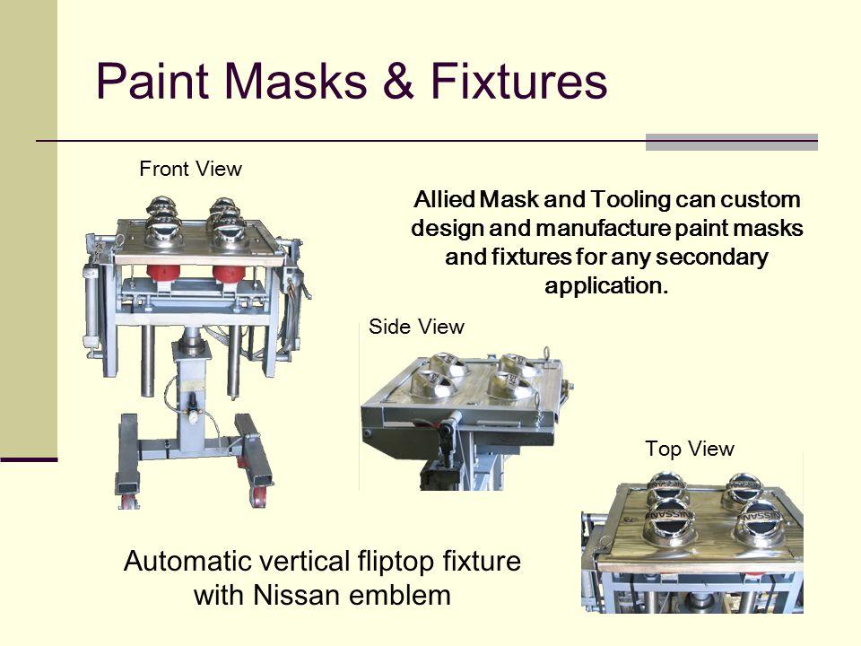 Automatic vertical fliptop fixture with Nissan emblem