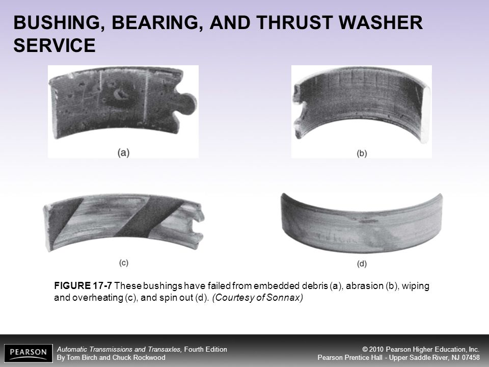 BUSHING, BEARING, AND THRUST WASHER SERVICE